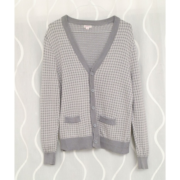 Merona Other - ⚜️ Cozy Knit Houndstooth Vneck Cardigan Sweater